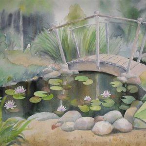 Kohtingusillake, akvarell, 56×38 cm