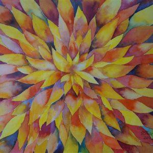 Inspiratsioon, akvarell, 57×76 cm