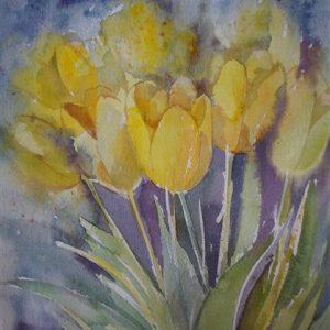 Kevad, akvarell, 28×38 cm